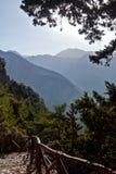 Каньон ущелья Samaria, Крит, Греция Стоковое Изображение