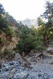 Каньон ущелья Samaria, Крит, Греция Стоковые Изображения RF
