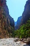 Каньон ущелья Samaria, Крит, Греция Стоковое фото RF