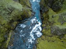 Каньон южная Исландия ` s Исландии каньона Fjadrargljufur былинный стоковое фото