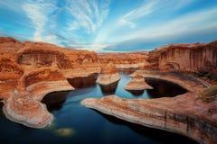 Каньон Юта отражения стоковые фото