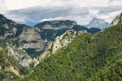 Каньон Anisclo в национальном парке Ordesa, Испании стоковое изображение