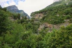 Каньон Anisclo в национальном парке Ordesa, Испании стоковое фото rf