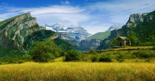каньон anisclo Стоковая Фотография