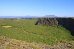 каньон asbyrgi Стоковые Фотографии RF