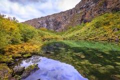 Каньон Asbyrgi стоковое изображение rf