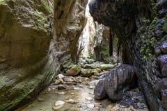 Каньон Avakas в Кипре стоковое фото