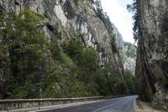 Каньон Bicaz Каньон одна из самых эффектных дорог в Румынии стоковое изображение