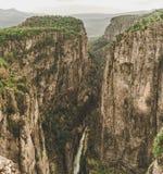 Каньон Bilgelik Vadisi Tazi в Manavgat, Анталье, Турции Изумляя ландшафт и скала Долина премудрости стоковая фотография rf