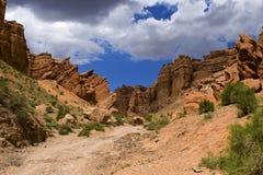 Каньон Charyn Национальный парк Charyn Азия, Казахстан стоковые фотографии rf