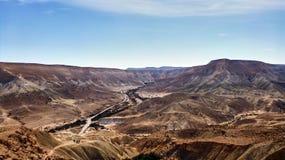 Каньон Ein Avdat в пустыня Негев стоковая фотография