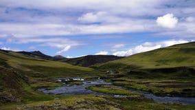Каньон Eldgja, южная Исландия стоковое изображение