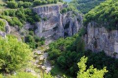 Каньон Emen в Бугарске стоковое изображение