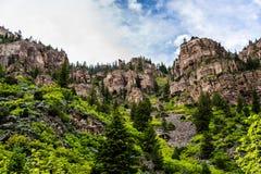 Каньон Glenwood в Колорадо Стоковое Изображение RF