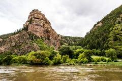 Каньон Glenwood в Колорадо Стоковое Изображение