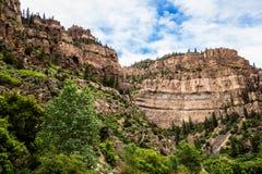 Каньон Glenwood в Колорадо Стоковые Фото
