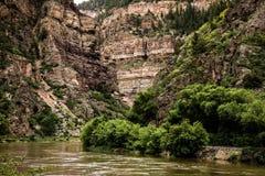 Каньон Glenwood в Колорадо Стоковое Фото
