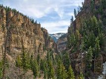 Каньон Glenwood, Колорадо стоковое фото
