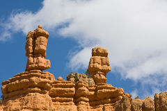 каньон hoodoos красный цвет Стоковые Изображения RF