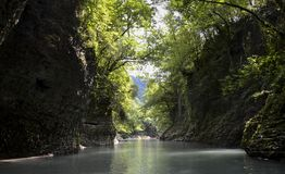 Каньон Martvili, Georgia стоковые изображения rf