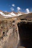 Каньон Opasny на наклонах вулкана Mutnovsky стоковые фото