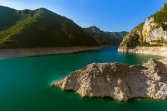 Каньон Piva - Черногория стоковая фотография