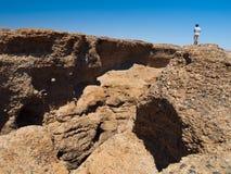 Каньон Sesriem в намибийском Sossusvlei Стоковая Фотография RF