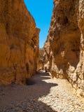 Каньон Sesriem около Sossusvlei в Намибии Стоковые Фотографии RF