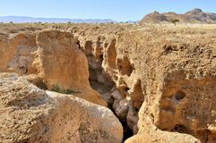 Каньон Sesriem около Sossusvlei. Намибия Стоковые Изображения RF