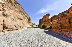 Каньон Sesriem - Sossusvlei, Намибия Стоковые Изображения RF