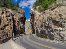 Каньон Sinclair в национальном парке Kootenay стоковое изображение rf