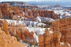 Каньон Snowy Bryce Стоковые Фотографии RF
