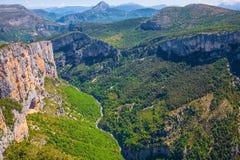 Каньон Verdon, Франции стоковое фото
