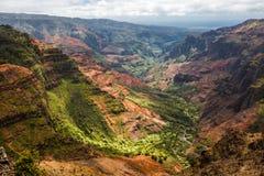 Каньон Waimea в Кауаи Гаваи Стоковое Изображение