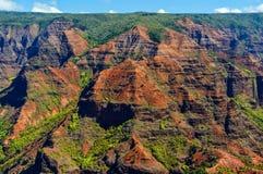 Каньон Waimea в Кауаи, островах Гаваи Стоковые Фото