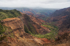 Каньон Waimea на Кауаи, Гаваи Стоковое фото RF