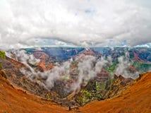 Каньон Waimea, остров Кауаи, Гаваи, США Стоковое Изображение