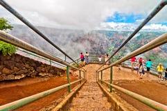 Каньон Waimea, остров Кауаи, Гаваи, США Стоковые Фотографии RF