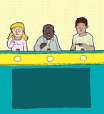 Кандидаты игрового шоу иллюстрация штока