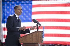 Кандидат в президенты Barack Obama Стоковое Изображение RF