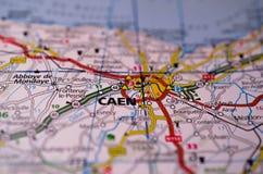 Кан на карте Стоковое Изображение