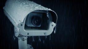 Капание камеры CCTV в дожде видеоматериал
