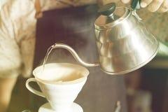 Капание кофе стоковые изображения rf
