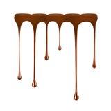 Капание шоколада от шоколадного батончика изолированного на белизне стоковое фото