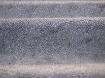 Капельки воды на конце цинка вверх Стоковые Изображения