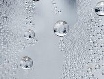 Капельки воды на стеклянной предпосылке Стоковое Изображение RF