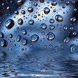 Капельки воды стоковые фотографии rf