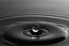 Капелька воды от выплеска Стоковые Фото
