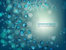 Капельки воды летания Стоковые Фото