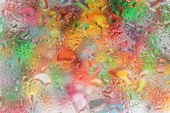 Капельки воды на стекле Стоковое Изображение RF